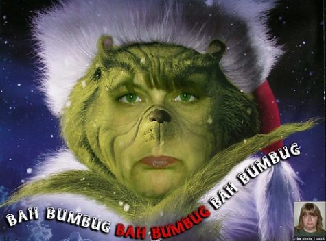Jim Carrey as the Grinch Who Stole Christmas.